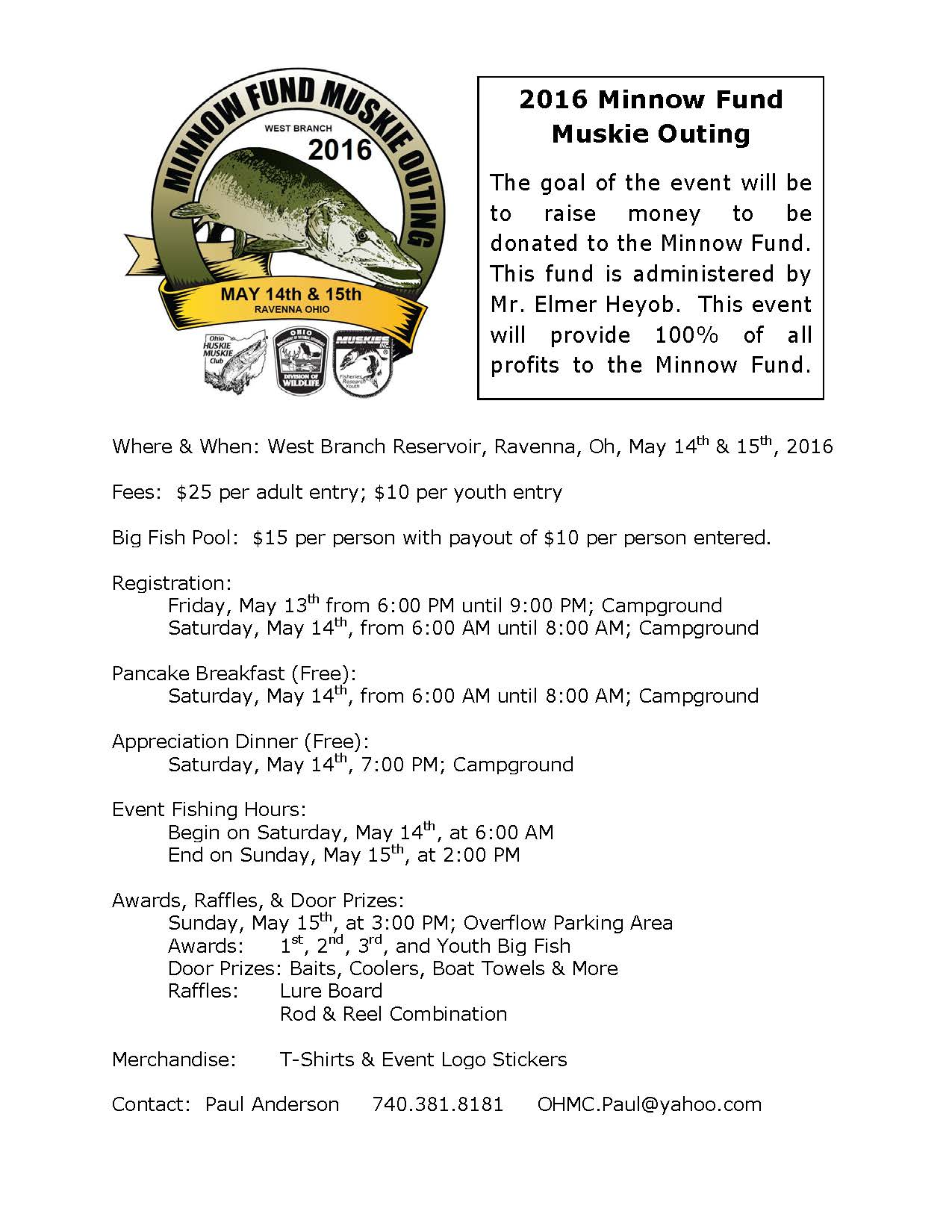 2016 Minnow Fund Muskie Outing Flyer